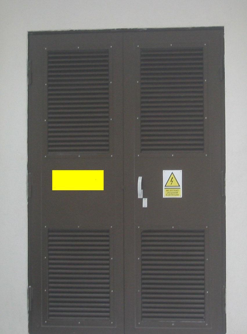 Drzwi do stacji trafo